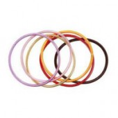 Metallic extensible bracelet, assorted, 6 pcs