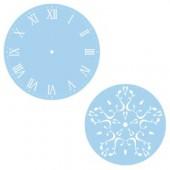 Duo de pochoirs horloge, chiffres romains, Ø28cm + Ø18cm