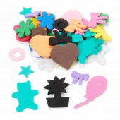 Creasoft, assorted foam shapes