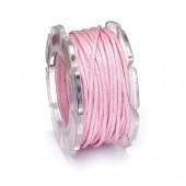 Waxed cord, Ø1mm- 5m, pink