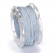 Waxed cord, Ø1mm- 5m, blue