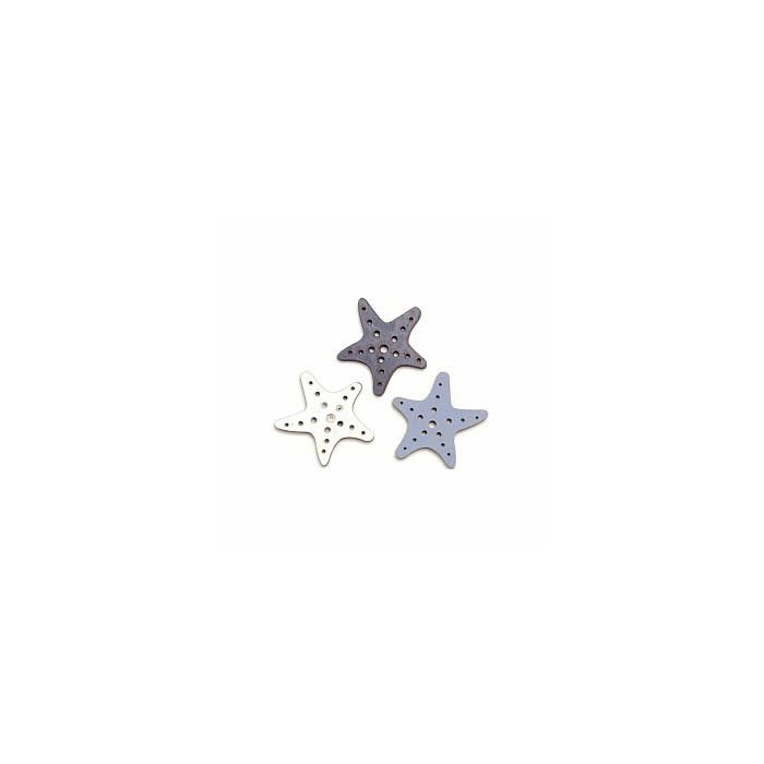 Wooden Sea stars, 4cm, 6 pcs