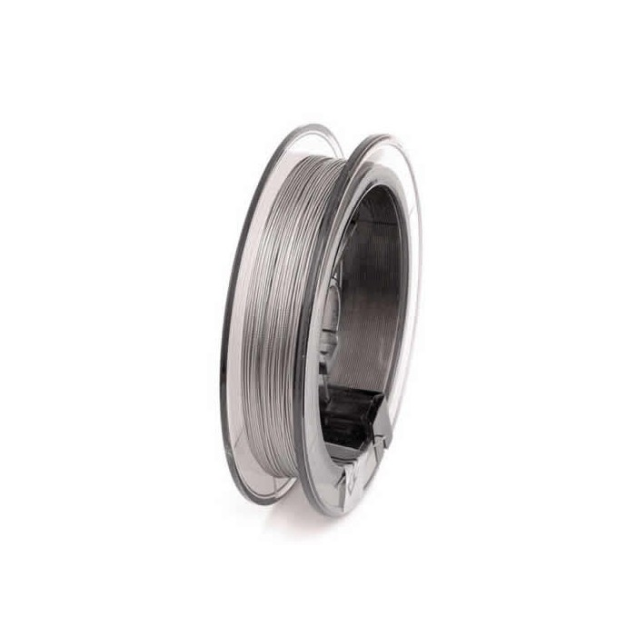 Nylon coated wire silver, Ø 0.38mm/50m