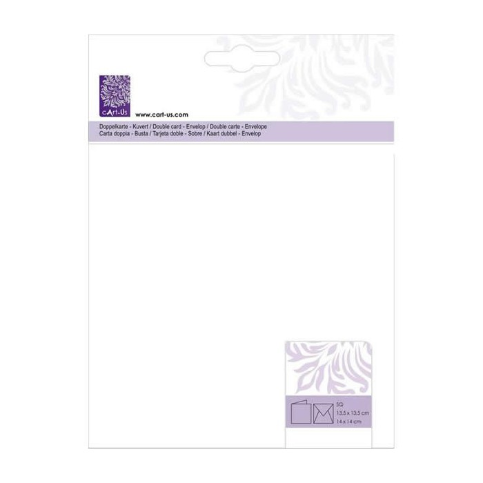 Set 5 cards and envelopes, white