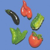 "Polyresin objects ""vegetables"""