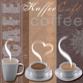Napkin Cup of Coffee, 1 piece