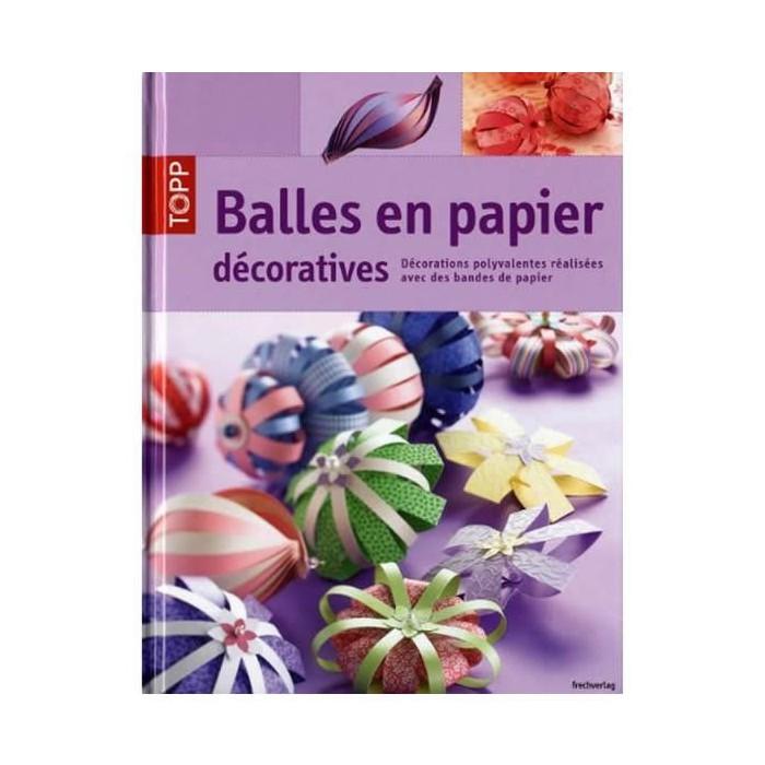 Book Balles en papier décoratives