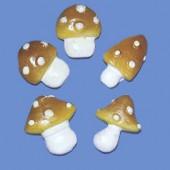 Champignons en polyrésine