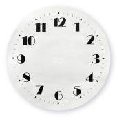 Adhesive Clock Dial, 20cm, silver