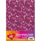 Butterflies paper, pink, A4, 2 sheets