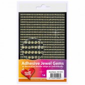 Adhesive Jewel Gems, Ø3mm, gold