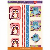 3D Glamour-Gloss Decoupage Paper, Owls #5