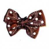 Bow tie 24x18mm, brown