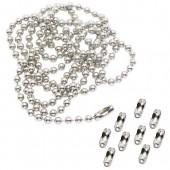 Ball chain 2mm/1m with 10 connectors