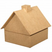 Boîte en papier mâché chalet 11x11cm