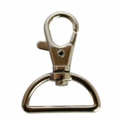 Snap hook with half-ring 30x40mm