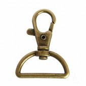 Porte-clés mousqueton demi-lune, 30x40mm, 1 pce
