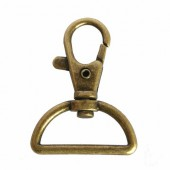 Snap hook with half-ring 30x40mm, 1 pce