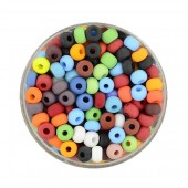 Rocailles, 4.5mm, 17g, misc. mate colours