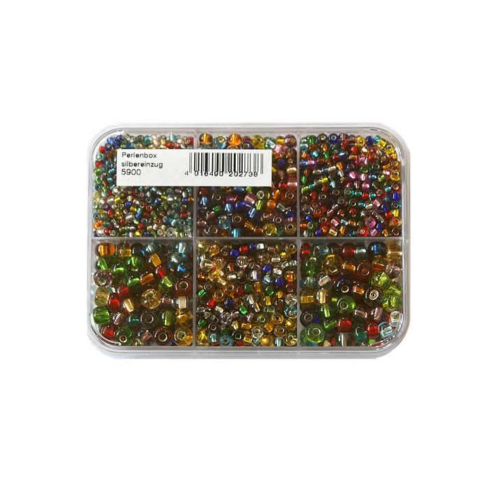 Mix of rocailles, 2.6-4.5mm, translucent colors