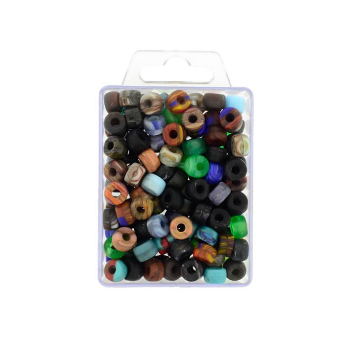Rondelle beads mix, 10mm, 90g