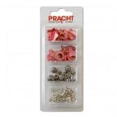 Kit bracelet breloques/nacres, rose