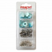 Kit bracelet breloques/nacres, bleu