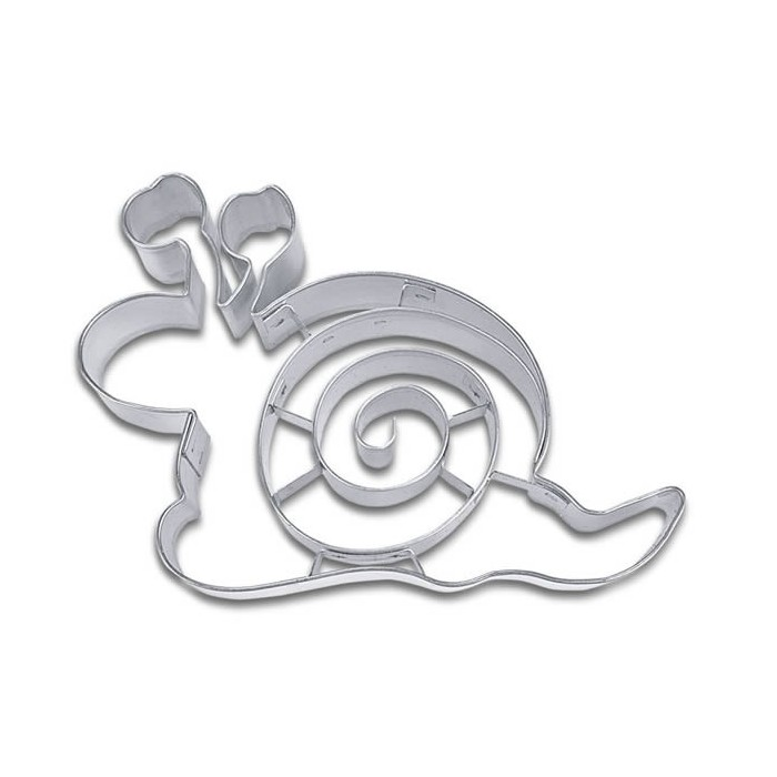 Clay cutter with embossing snail 9cm