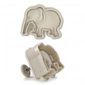 Emporte-pièce avec poussoir, éléphant 6cm