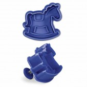 Plunger clay cutter, rocking horse 6cm