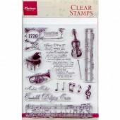 Clear stamps, La Musique