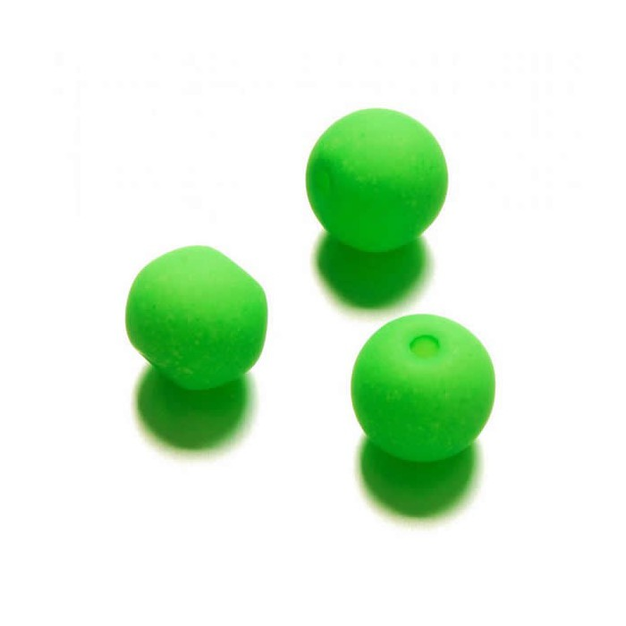 Neon beads Ø10mm, 10 pcs, neon green