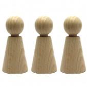 Figurine en hêtre, 23x60mm, 3 pces