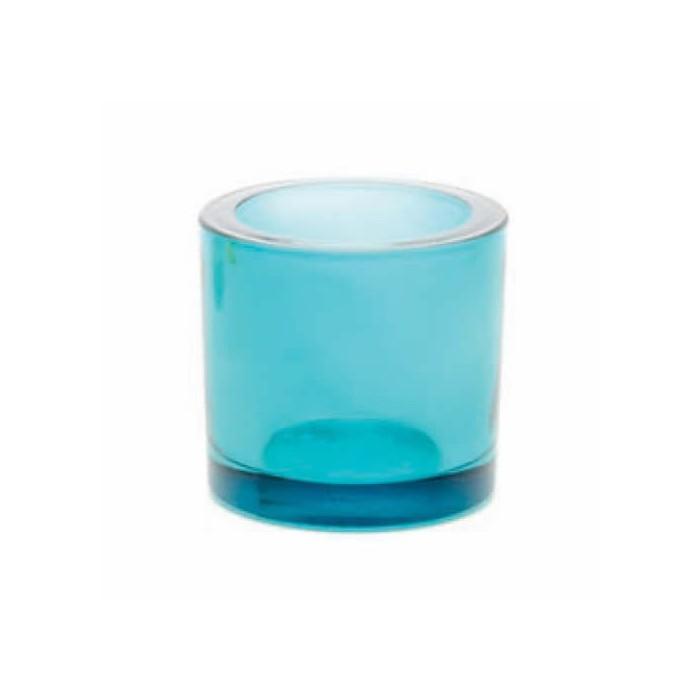 Candle jar, Ø65mm turquese