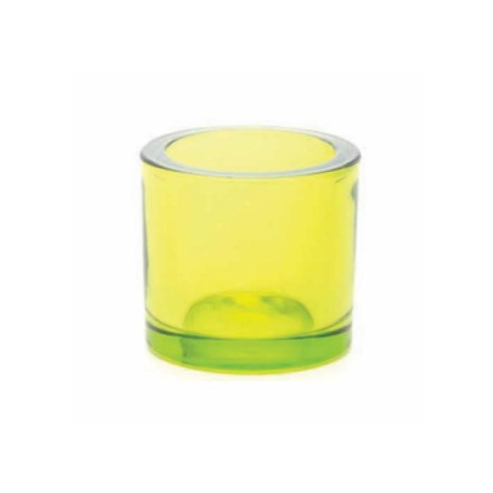Candle jar, Ø65mm green