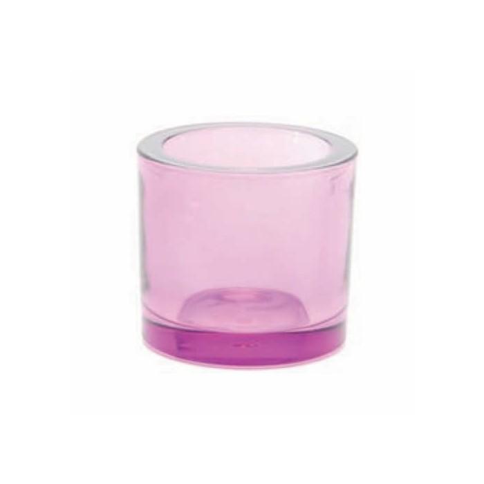 Candle jar, Ø65mm lilac