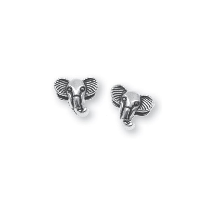 Charm Elephant, 1cm, silver color