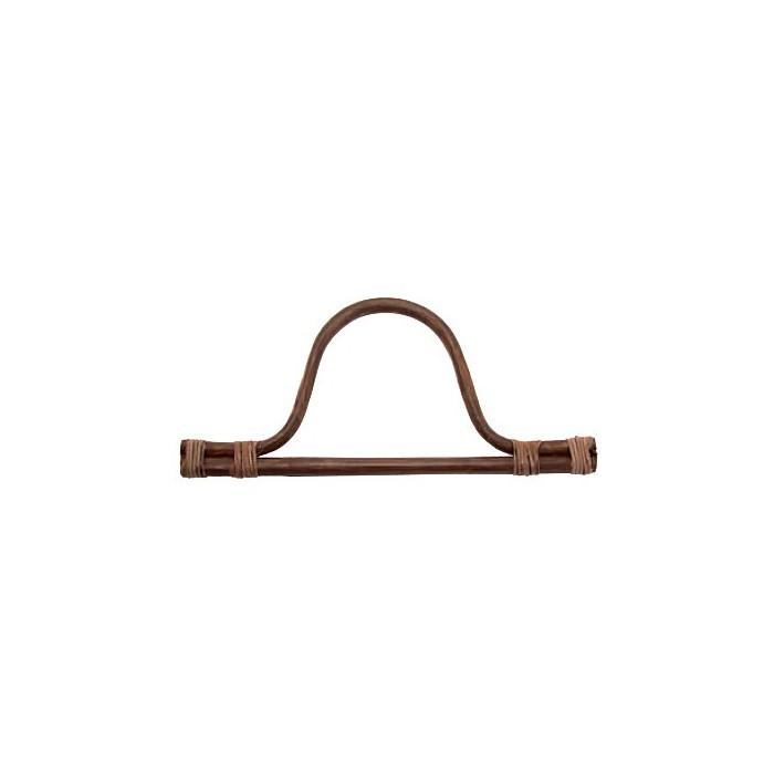 Bag handles of bamboo, 30x14cm, brown
