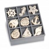 Wooden elements : ocean