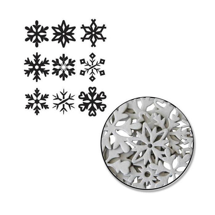 Maya Road - Snowflake Chipboard Set