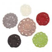 Fleurs crochetées - Yuletide, 6 pièces