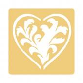 Pochoir à gaufrer, coeur acanthes