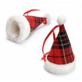 Bonnet  de Père Noël, 6x10cm, 6 pcs