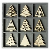 Wooden elements : Christmas trees