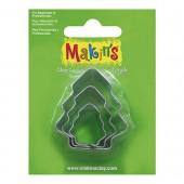 Makin's - Cutter set Xmas tree, 3 pcs