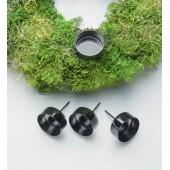 Metal teacandle holder, black,  4 pces