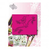 Embossing template bird 9x11cm