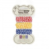 WRMK - Floss assortment bakers twine red-blue-yellow