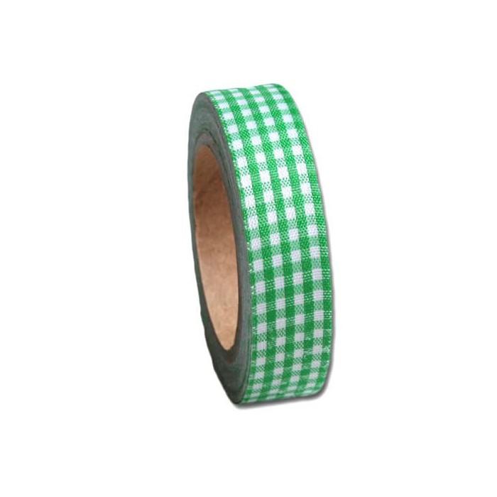 Maya Road - Fabric Tape Vichy green