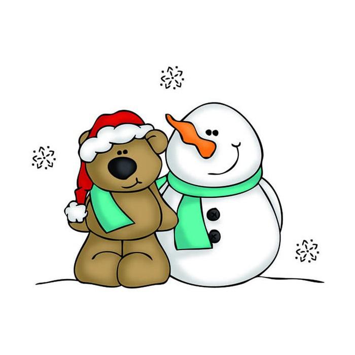 Clear stamp, Snowman
